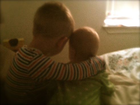 These two really love each other.  Melts my heart!