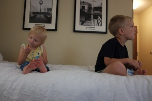 The kids are clearly loving our few hotel stays!
